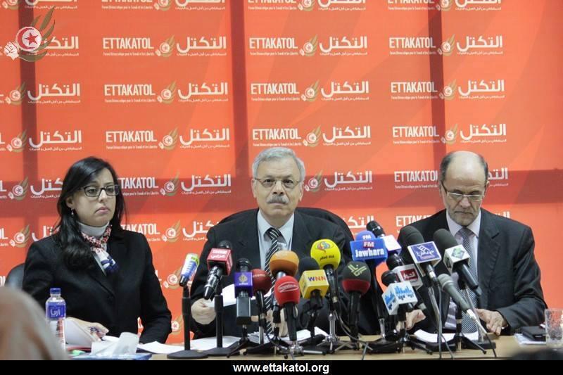 Conférence de presse Ettakatol 19/12/2013