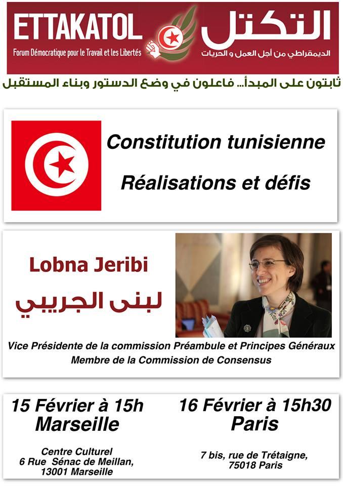 Rencontre - Débat avec Lobna Jeribi à Marseille