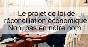 projet de loi de réconciliation économique